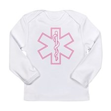 Pink Star of Life Long Sleeve Infant T-Shirt