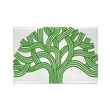 Oakland Tree Green Rectangle Magnet (100 pack)