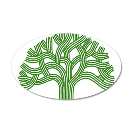 Oakland Tree Green 22x14 Oval Wall Peel