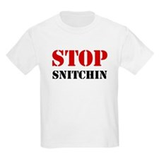 Stop Snitchin 7 Kids T-Shirt