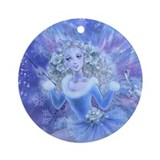 Blue Christmas Ornament (Round)