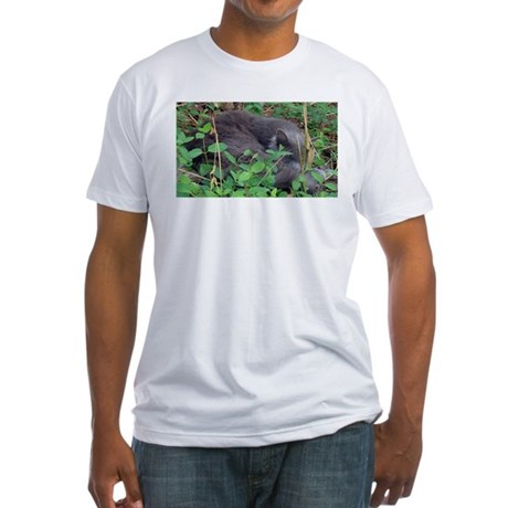 Kitten in Honeysuckle Fitted T-Shirt