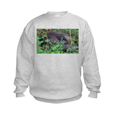 Kitten in Honeysuckle Kids Sweatshirt