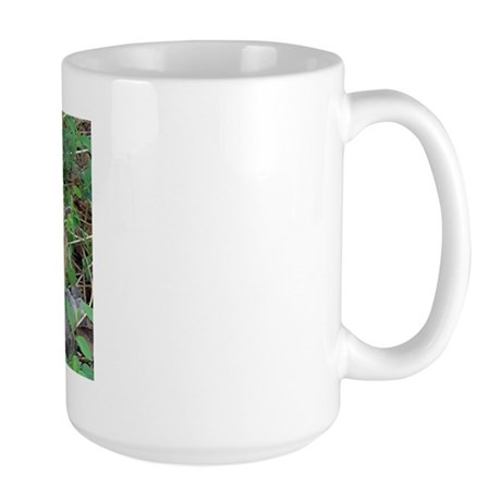 Kitten in Honeysuckle Large Mug