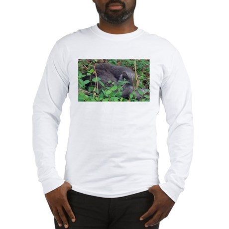 Kitten in Honeysuckle Long Sleeve T-Shirt