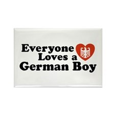 Everyone Loves a German Boy Rectangle Magnet