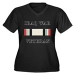 Iraq War Veterans Women's Plus Size V-Neck Dark T-