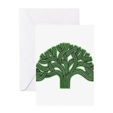 Oakland Tree Hazed Green Greeting Card