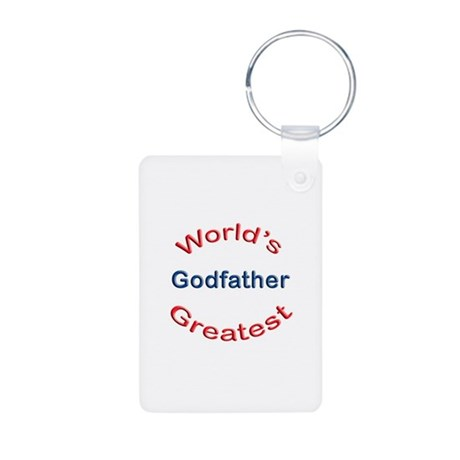 W Greatest Godfather Aluminum Photo Keychain