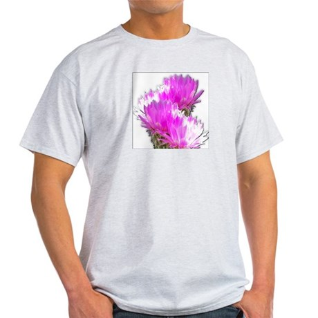 Cactus Blooms Ash Grey T-Shirt