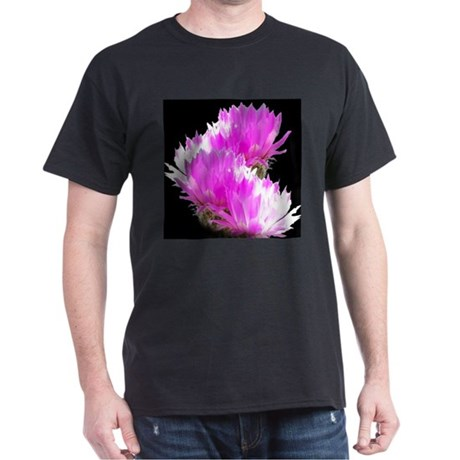 Cactus Blooms Black T-Shirt