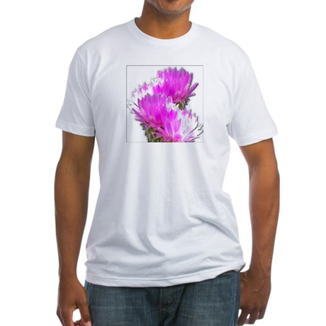 Cactus Blooms Fitted T-Shirt