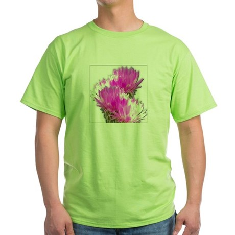 Cactus Blooms Green T-Shirt