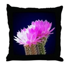 Cactus Blooms Throw Pillow