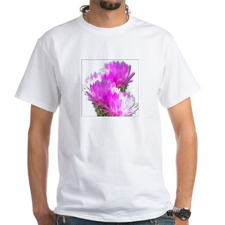 Cactus Blooms White T-Shirt