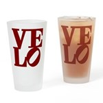 Velo Love Drinking Glass