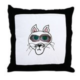 Throw Pillow Cat Eyes
