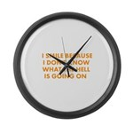 I smile merchandise Large Wall Clock