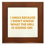 I smile merchandise Framed Tile