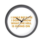 I smile merchandise Wall Clock