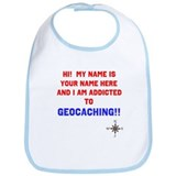 Addicted to Geocaching Bib