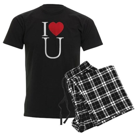 I Love You; I Heart U Men's Dark Pajamas