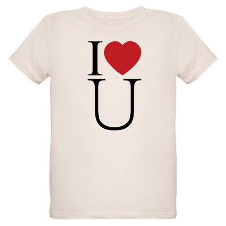 I Love You; I Heart U Organic Kids T-Shirt