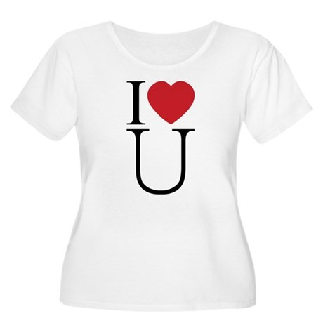 I Love You; I Heart U Women's Plus Size Scoop Neck T-Shirt