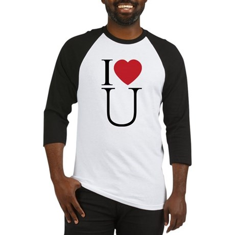 I Love You; I Heart U Men's Baseball Jersey