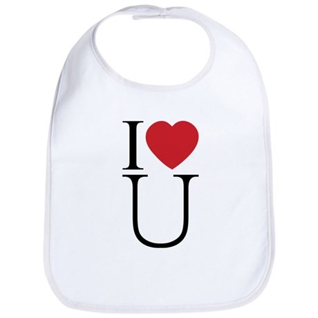 I Love You; I Heart U Baby Bib