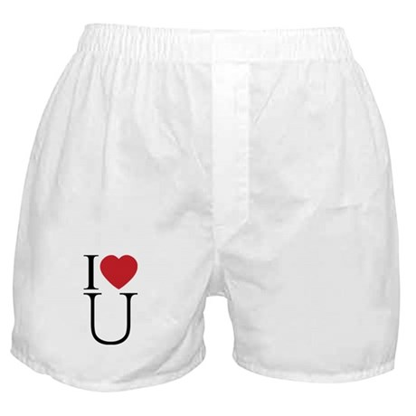 I Love You; I Heart U Boxer Shorts