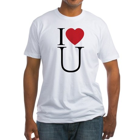 I Love You; I Heart U Men's Fitted T-Shirt