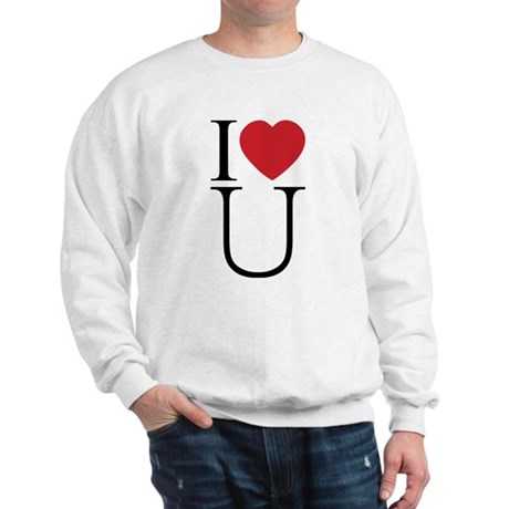 I Love You; I Heart U Men's Sweatshirt