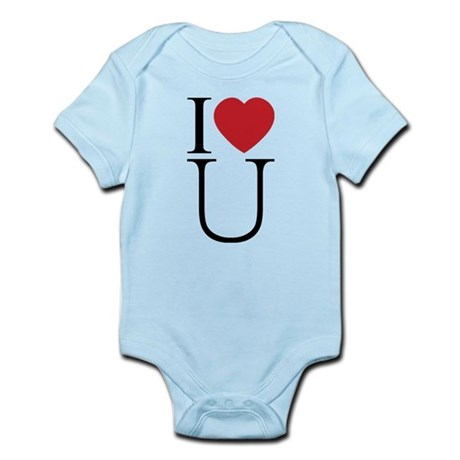 I Love You; I Heart U Infant Bodysuit