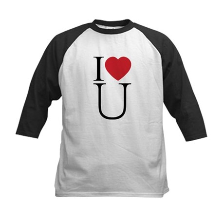 I Love You; I Heart U Kids Baseball Jersey