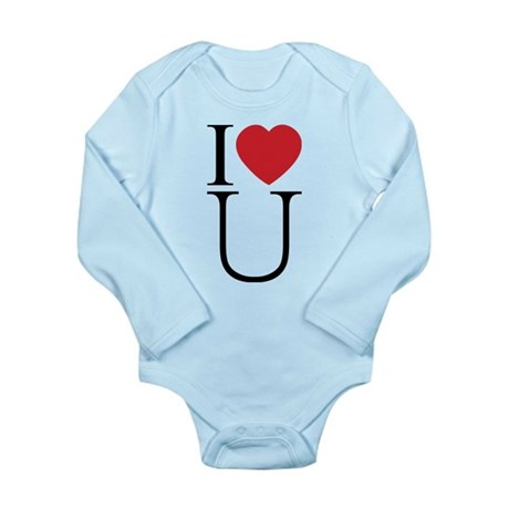 I Love You; I Heart U Long Sleeve Infant Bodysuit