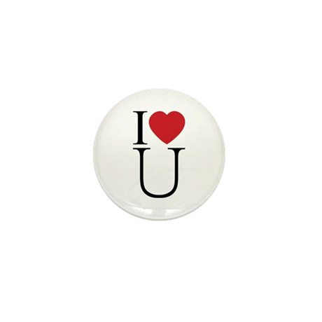 I Love You; I Heart U Mini Buttons ~ Pack of 10