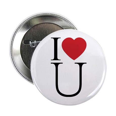 I Love You; I Heart U 2.25 Inch Button