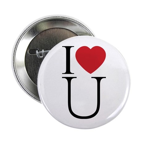 I Love You; I Heart U 2.25 Inch Buttons ~ Pack of 10