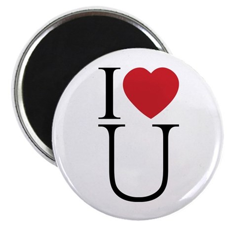 I Love You; I Heart U 2.25 Inch Magnets ~ Pack of 100