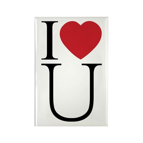 I Love You; I Heart U Rectangle Magnets ~ Pack of 100