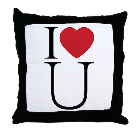 I Love You; I Heart U Throw Pillow