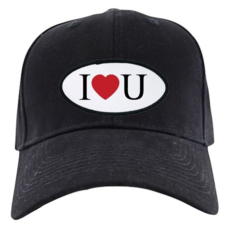I Love You; I Heart U Black Baseball Cap