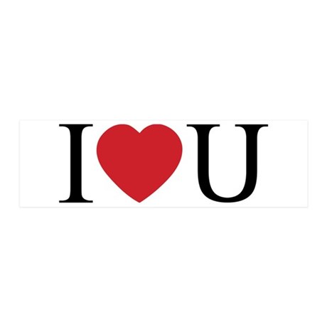 I Love You; I Heart U 42x14 Wall Peel