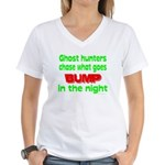 Ghost Hunters Bump in Night Women's V-Neck T-Shirt