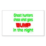 Ghost Hunters Bump in Night Sticker (Rectangle 50