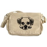 Black & White Puggle Messenger Bag