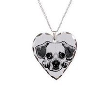 Black & White Puggle Necklace