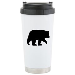 Black Bear Ceramic Travel Mug