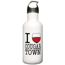 I Wine (Heart) Cougar Town Water Bottle